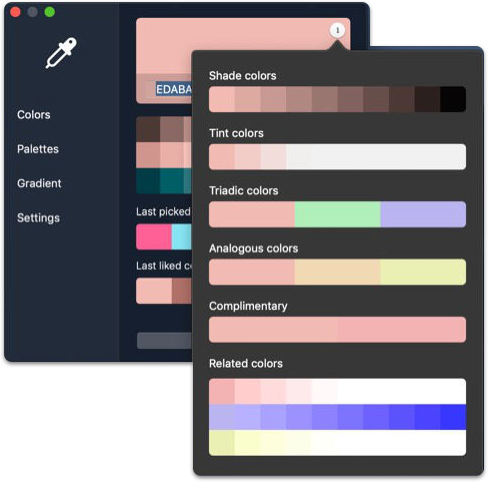 kelir - mac app for color picker, color palette & color gradient